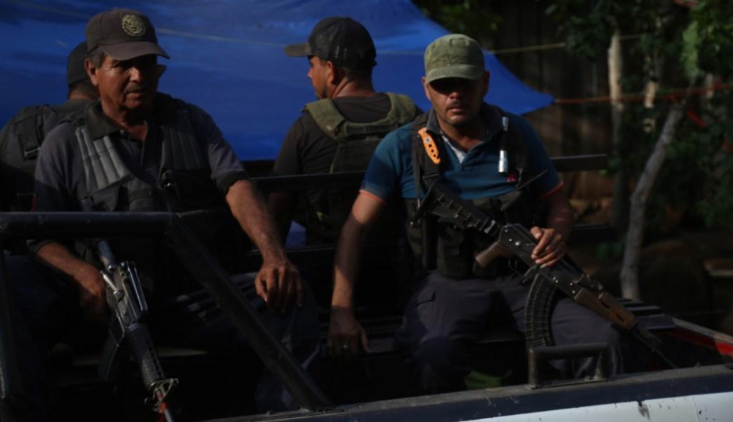 Grupos de autodefensa de la sierra-costa de Michaocán realiza tareas de vigilancia, 22 agosto 2019