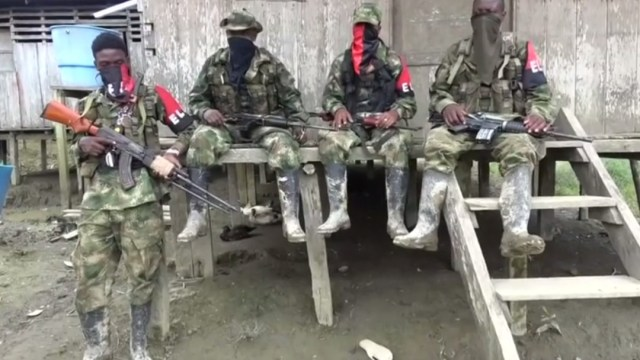 Foto: Guerrilleros del ELN, 10 de agosto de 2018, Colombia
