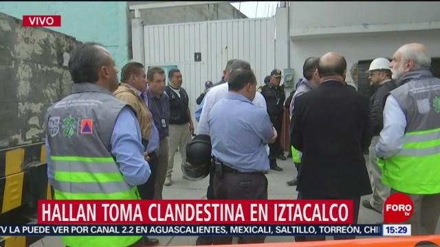 Foto: Hallan Toma Clandestina Iztacalco 22 Agosto 2019