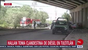 FOTO: Hallan Toma Clandestina Tultitlán Estado De México