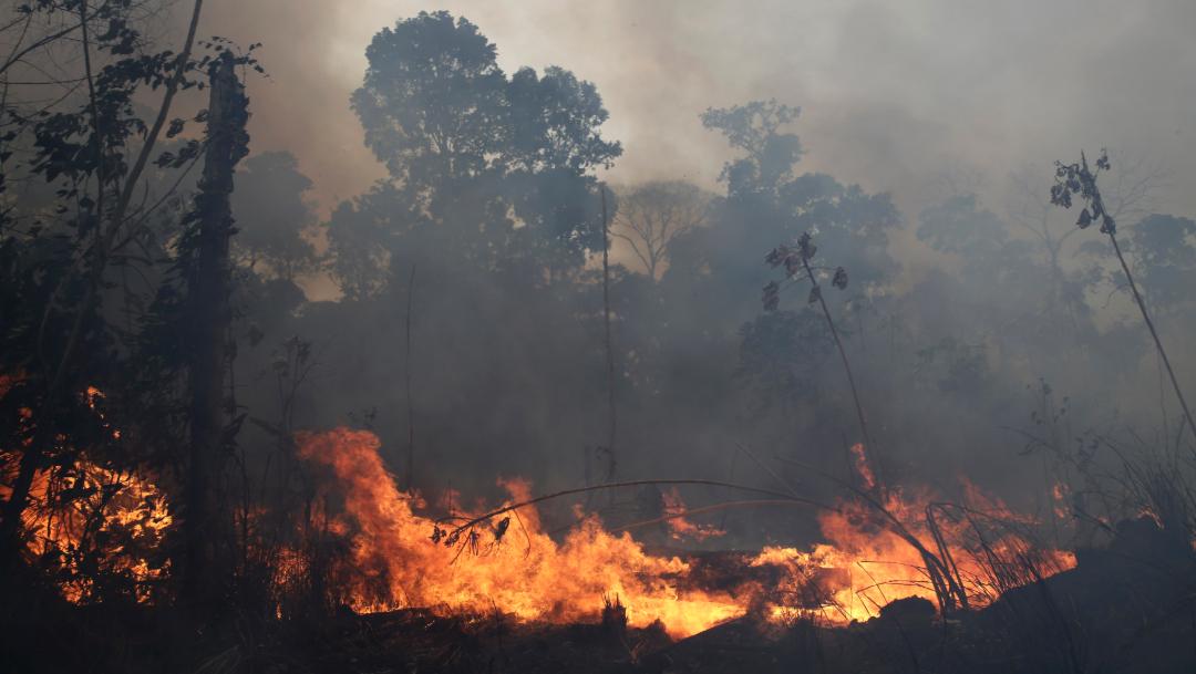 FOTO Bolsonaro aceptará ayuda del G7 para Amazonía, si Macron se retracta (AP)