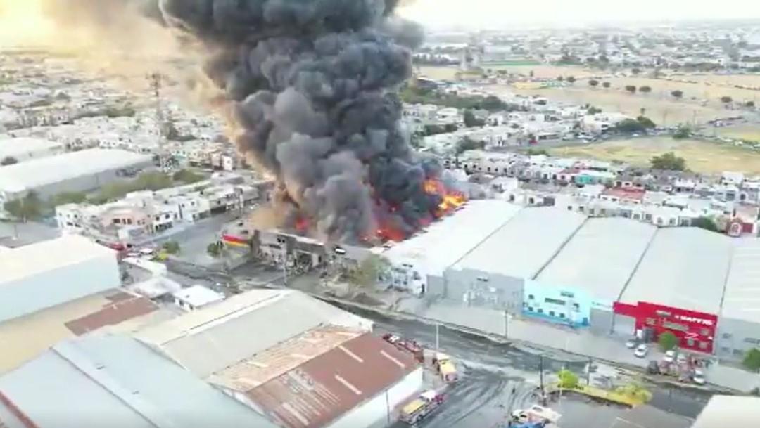 Foto: Hasta el momento se desconocen las causas del incendio en fábrica de Nuevo León , 18 de agosto 2019. (Noticieros Televisa)