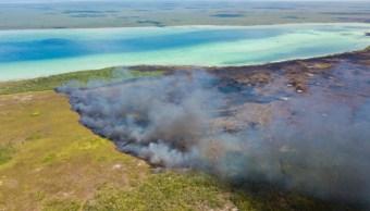 Controlan incendio en Reserva de Sian Ka'an