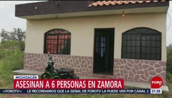 Foto Matan Seis Personas Zamora Michoacán 19 Agosto 2019