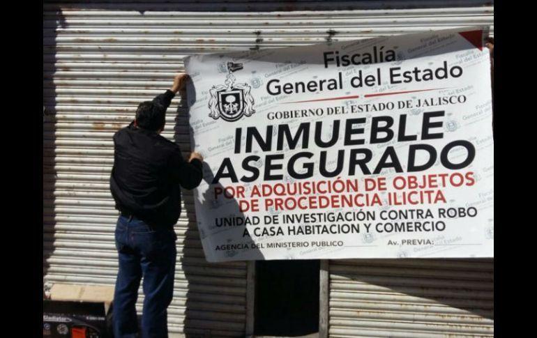 Inmueble asegurado en Jalisco.