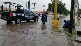 Afectaciones por lluvias en Sinaloa.