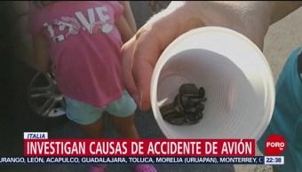 FOTO: Investigan causas de accidente de avión en Italia, 11 Agosto 2019