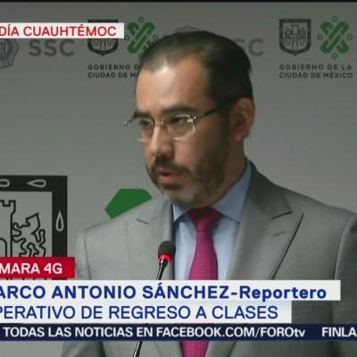 Jesús Orta anuncia operativo regreso a clases en CDMX