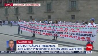 Jubilados y pensionados alistan marcha a Segob, en la CDMX