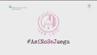 Foto: Jugadoras Atlético San Luis Campaña Así No Se Juega 27 Agosto 2019