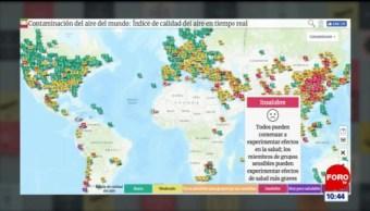 La contaminación en tiempo real