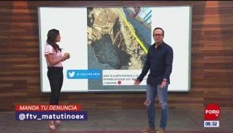 #LaCámaraUrbana en Expreso: Socavón sin arreglar en Coapa