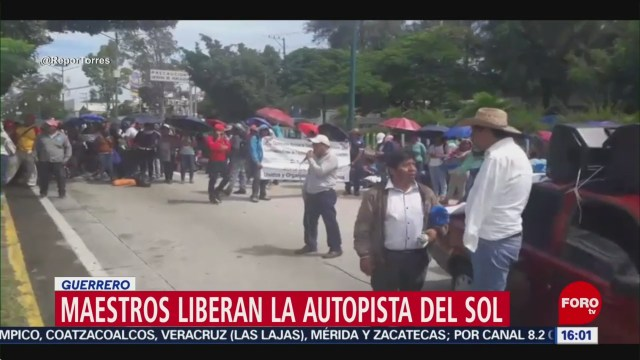 FOTO: Liberan Autopista del Sol Guerrero