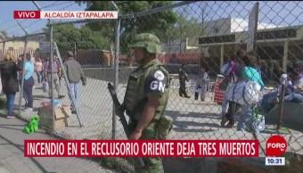 Llega Guardia Nacional a Reclusorio Oriente tras incendio
