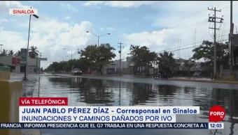 Lluvias de la tormenta 'Ivo' afectan viviendas de Navolato