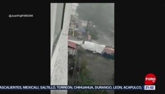FOTO: Lluvias en Naucalpan provocan desbordamiento del río Totolinga, 25 Agosto 2019