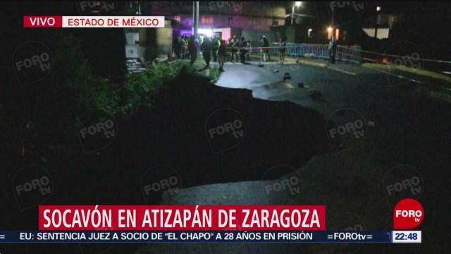Foto: Lluvias Provocan Socavón Atizapán De Zaragoza6 Agosto 2019