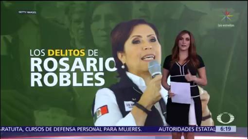 Los delitos de Rosario Robles