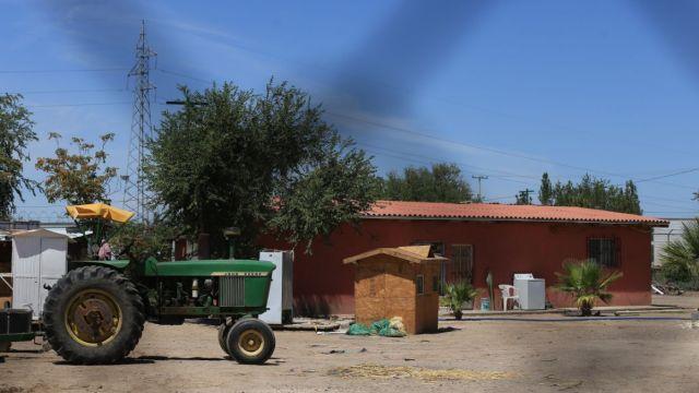 Foto: La finca donde tres hermanas de 14, 13 y 4 años de edad fueron asesinadas junto a su tío en Ciudad Juárez, Chihuahua. Efe