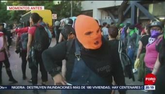 Foto: Video Manifestante Amenaza Reporteros Tijeras 16 Agosto 2019