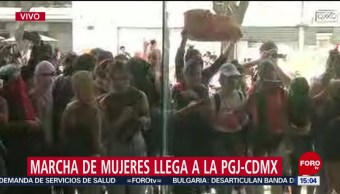 Foto: Manifestantes Ingresan Forma Violenta PGJ-CDMX