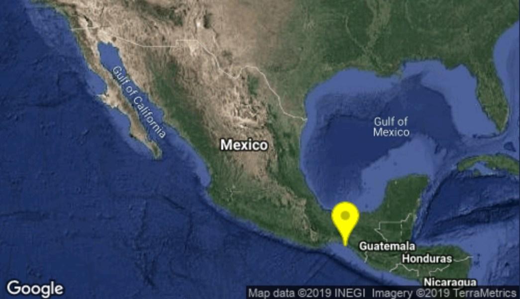 Se registra sismo en Chiapas.
