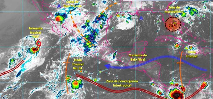 Foto: Imagen de fenómenos meteorológicos significativos de las 06:00 horas, 24 agosto 2019