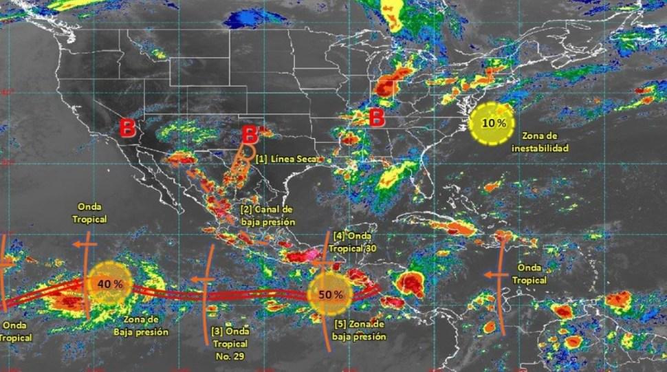 Mapa con el pronóstico del clima para este 19 de agosto de 2019