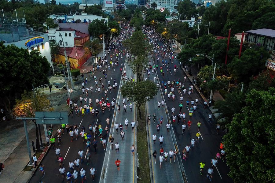 Foto: Maratón de la Ciudad de México este domingo 25 de agosto de 2019 (EFE)