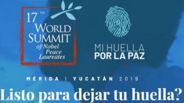 Foto: Mérida será sede de la Cumbre Mundial de Premios Nobel de la Paz 2019