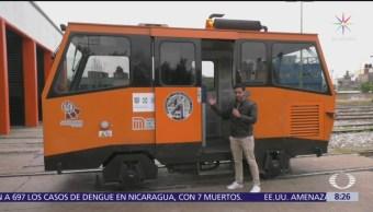 Metro Bebé, curioso vehículo que recorre vías del subterráneo en la CDMX
