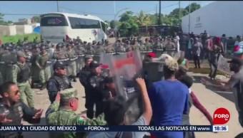 Foto: Migrantes Africanos Enfrentamiento Guardia Nacional Chiapas 27 Agosto 2019