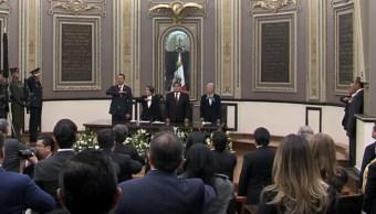 FOTO Miguel Barbosa toma protesta como gobernador de Puebla (YouTube)