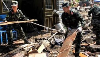 Foto: El tifón Lekima dejó un saldo de 1 millón de evacuados en China, 11 de agosto de 2019. (EFE)