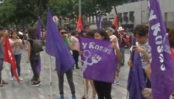 Foto: Las mujeres se manifestaron alrededor de una hora, el 17 de agosto de 2019 (Noticieros Televisa)