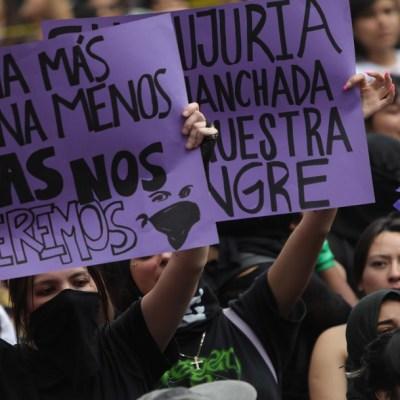 Crónica: Marcha de mujeres contra violencia de género termina en disturbios