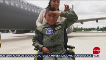 FOTO: Niño cumple su sueño de ser piloto, 25 Agosto 2019