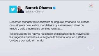 Foto: Obama Condena Racismo Estados Unidos 5 Agosto 2019