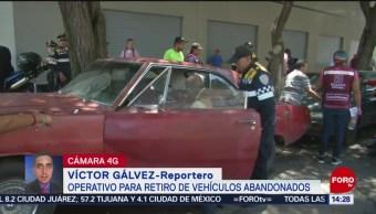 Foto: Operativo Para Retirar Vehículos Abandonados CDMX
