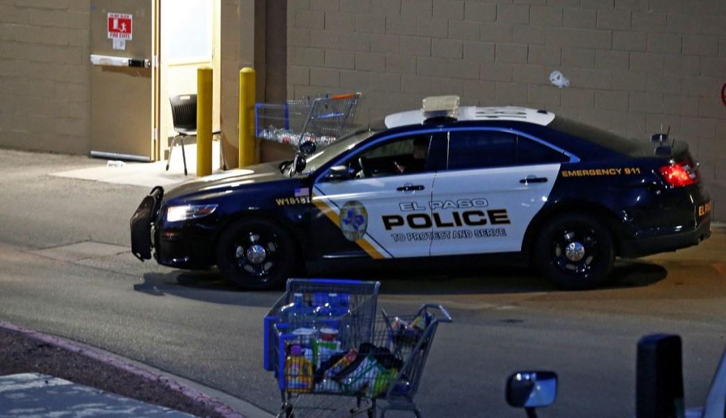 patrulla resguarda inmediacones del supermercado en el paso, texas