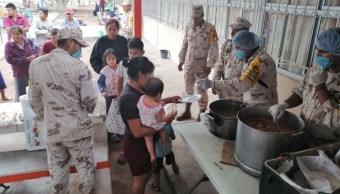 Foto: El Ejército apoya a la población afectada en Comundú, Baja California Sur, el 24 de agosto de 2019 (Twitter @cmendozadavis)
