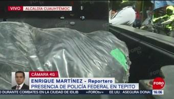 Foto: Policía Federal asegura bolsas tras operativo Tepito CDMX