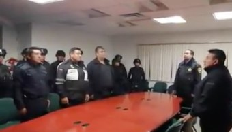 Foto: Policías destuidos en Toluca por extorsión a joven. 7 agosto 2019