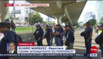 FOTO: Policías Federales Mantienen Cierre Intermitente Periférico Sur