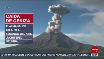 FOTO: Popocatépetl registra 135 exhalaciones en 24 horas, 31 Agosto 2019
