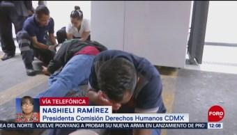 FOTO: Presidenta de CDH de CDMX rechaza vandalismo durante protesta, 17 Agosto 2019
