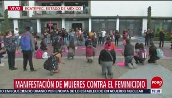 Foto: Concluye Marcha Violencia Género Ecatepec Edomex Hoy 30 Agosto 2019