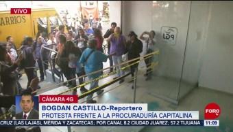 Protesta frente a la Procuraduría General de Justicia de la CDMX