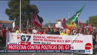 FOTO: Protestan en Francia contra las políticas del G7, 24 Agosto 2019