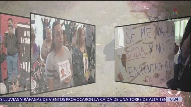 Protestan familiares de desaparecidos en Coahuila